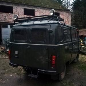 UAZ 452 near an old shed