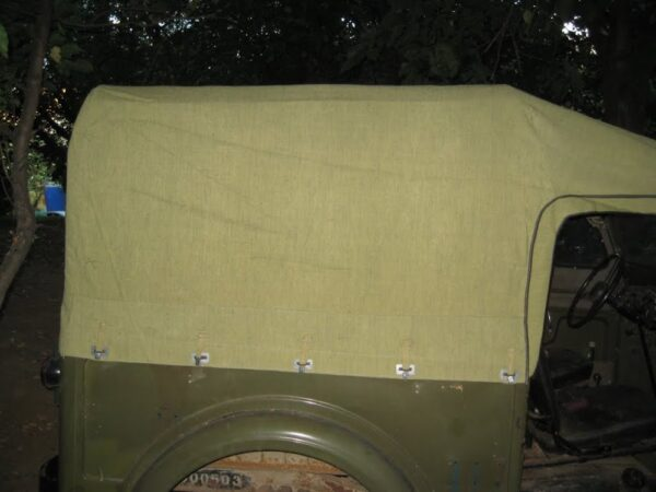Rubberised canvas for Gaz 69