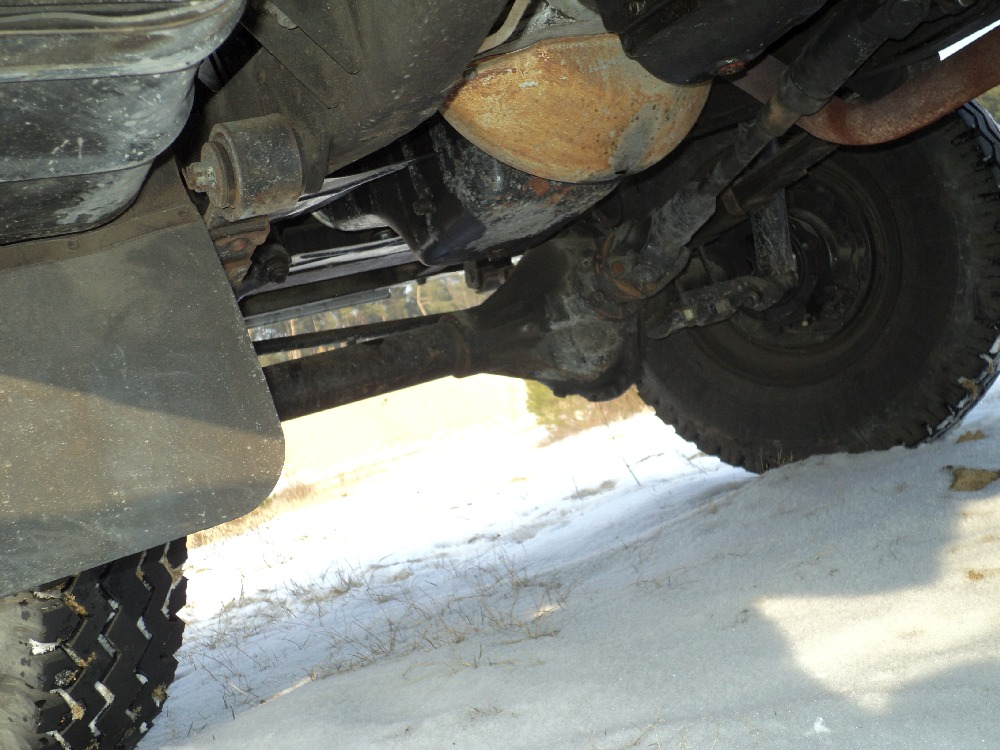 An example of well preserved UAZ 469B undercarriage