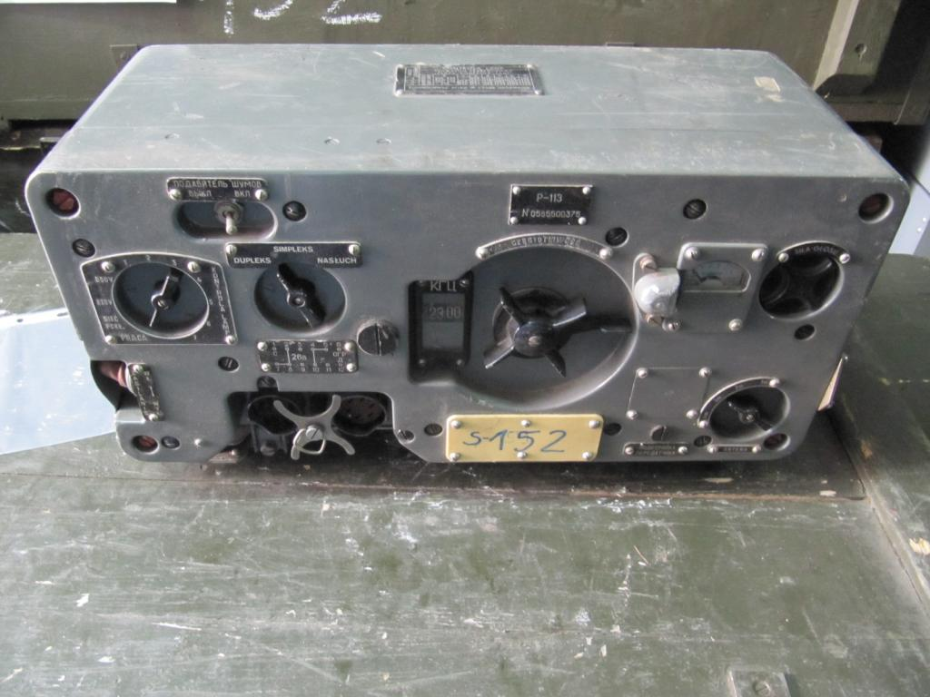 Russian R-113 tank radio, predecessor of the most well-known R-123 radio set.